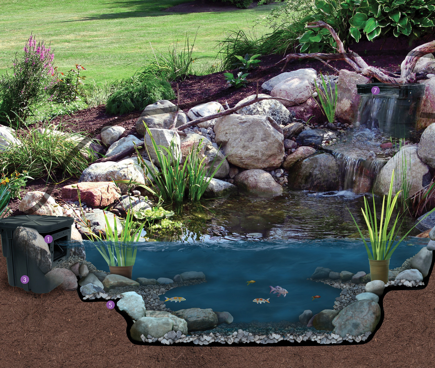Water garden smartrain for Garden with a pond